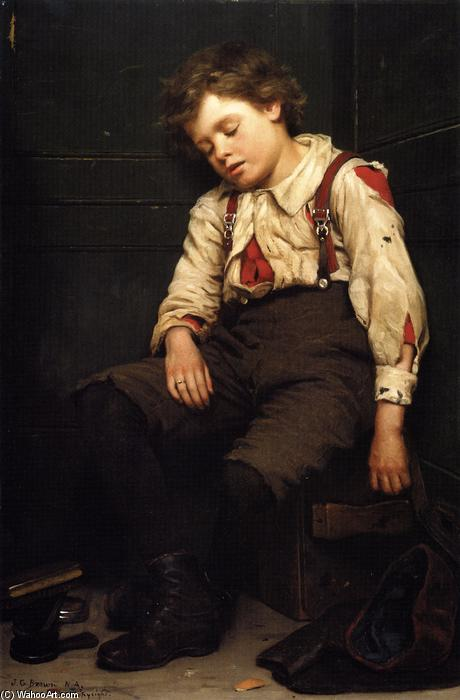 Tuckered OUt, Oil On Canvas by John George Brown (1831-1913, United Kingdom)