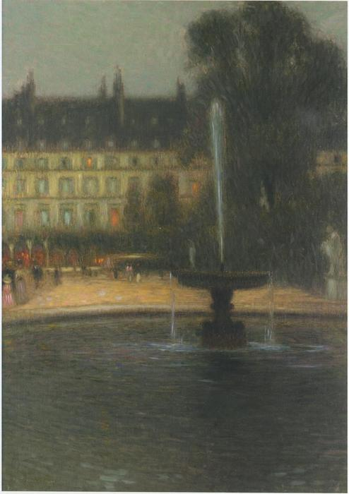 The Tuileries, Oil On Canvas by Henri Eugène Augustin Le Sidaner (1862-1939, Mauritius)