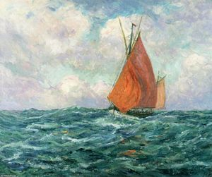 Maxime Emile Louis Maufra - Tuna Boat at Sea