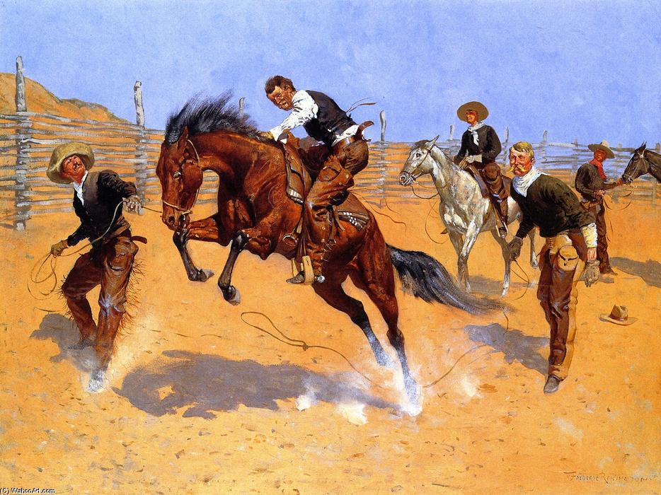 Turn Him Loose, Bill, Oil On Canvas by Frederic Remington (1861-1909, United States)