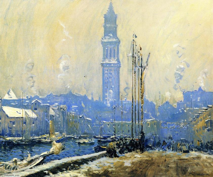 Order Oil Painting : T Wharf, 1915 by Arthur Clifton Goodwin (1864-1929, United States) | WahooArt.com