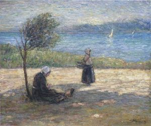 Henri Lebasque - Two Britons by the sea