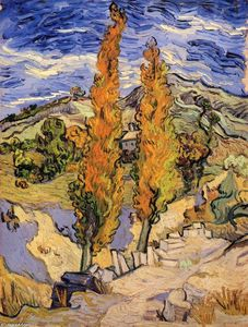 Vincent Van Gogh - Two Poplars on a Hill
