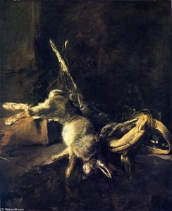 Jean-Baptiste Simeon Chardin - Two Rabbits with Game Bag and Powder Flask