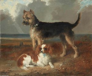 Richard Ansdell - Two small dogs