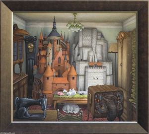 Jacek Yerka - The Two Towers (also known as Ciche dni)