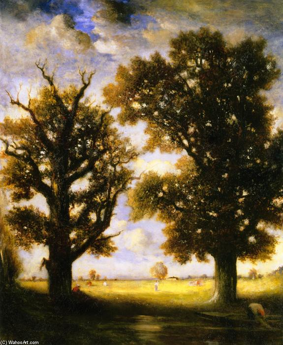 Order Museum Quality Reproductions : Two Trees, 1901 by Gilbert Munger (1837-1903, United States) | WahooArt.com