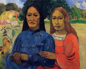 Paul Gauguin - Two Women (also known as Mother and Daughter)