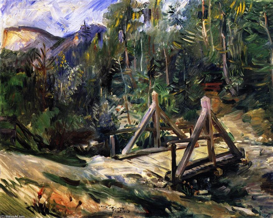 Tyrolean Landscape with Bridge, Oil On Canvas by Lovis Corinth (Franz Heinrich Louis) (1858-1925, Netherlands)