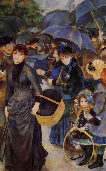 Umbrellas, Oil On Canvas by Pierre-Auguste Renoir (1841-1919, France)