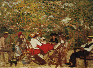 Jozsef Rippl Ronai - Uncle Piacsek and the Artist's Family in the Vineyard