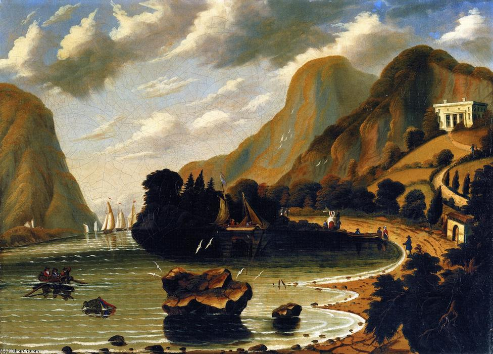 Underscliff, near Coldspring, 1843 by Thomas Chambers (1808-1869) | Oil Painting | WahooArt.com