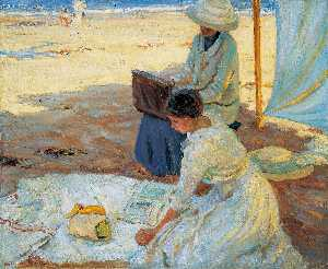 Helen Galloway Mcnicoll - Under the Shadow of the Tent