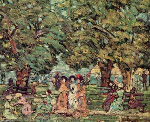 Maurice Brazil Prendergast - Under the Trees