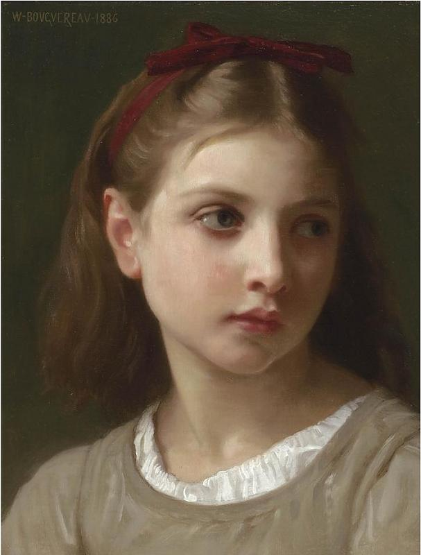 Une petite fille, 1886 by William Adolphe Bouguereau (1825-1905, France)