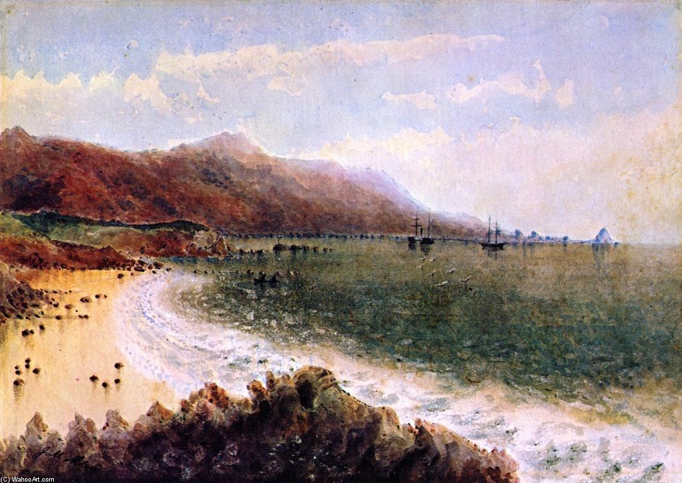 U.S. Steamer Active and Schooner Ewing in Santa Barbara Channel, Watercolour by James Madison Alden (1834-1922, United States)