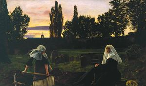 John Everett Millais - The Vale Of Rest
