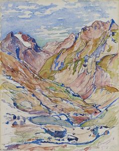 Giovanni Giacometti - Valley in the Upper Engadin
