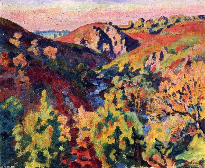 The Valley of the Creuse, 1903 by Jean Baptiste Armand Guillaumin (1841-1927, France) | Art Reproduction | WahooArt.com