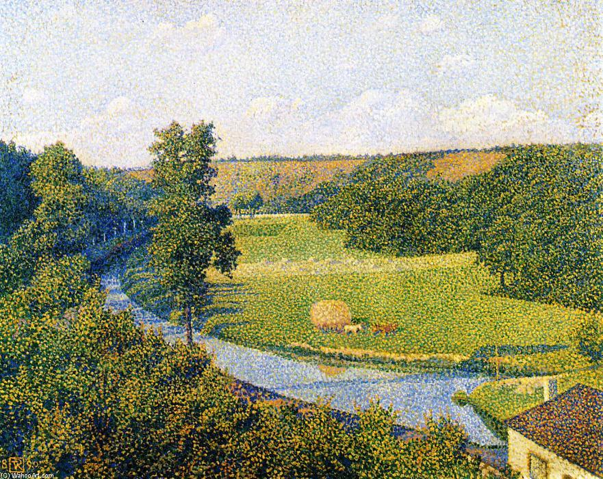 The Valley of the Sambre, 1890 by Theo Van Rysselberghe (1862-1926, Belgium) | WahooArt.com