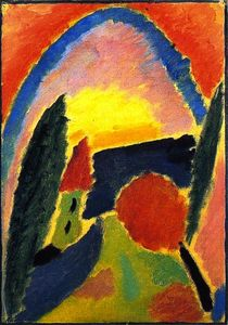Alexej Georgewitsch Von Jawlensky - Variation with Church Steeple