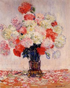 Claude Monet - Vase of Peonies