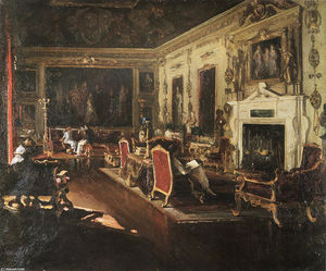 John Lavery - The Van Dyck Room, Wilton