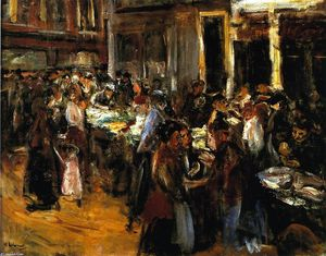 Max Liebermann - Vegetable Market in Amsterdam