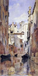 Buy Museum Art Reproductions | Venetian Canal Scene, 1871 by Henry Roderick Newman (1833-1918, United States) | WahooArt.com