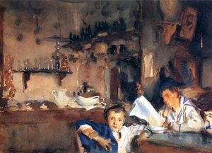 John Singer Sargent - Venetian Interior (also known as Spanish Interior)