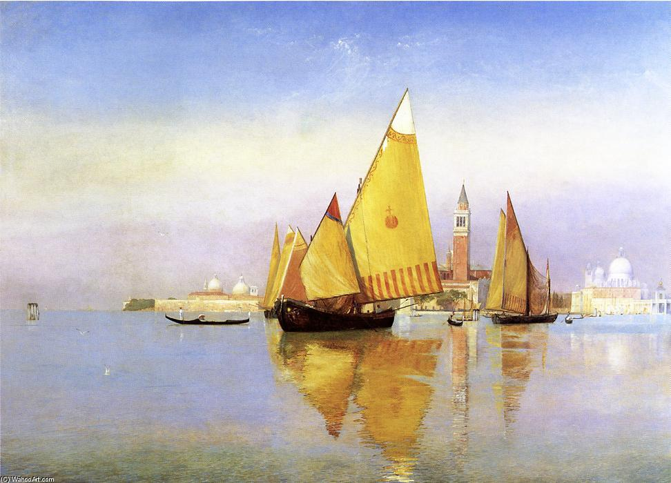 Venice, Oil On Canvas by Henry Roderick Newman (1833-1918, United States)
