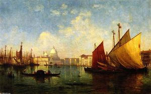 Christopher Pearse Cranch - Venice (also known as Morning Scene on the Guidecca, Mouth of the Grand Canal)