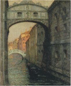 Henri Eugène Augustin Le Sidaner - Venice - the Canal of Sighs