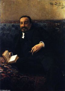 Ilya Yefimovich Repin - The Vice-President of the Academy of Arts, I.I. Tolstoy