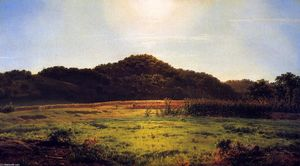 Louis Remy Mignot - View across the Valley of Pierstorn, New York, from a Point above Cascade Hills