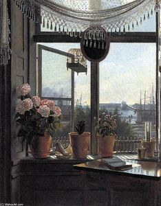 Martinus Christian Wesseltoft Rørbye - View from the Artist's Window