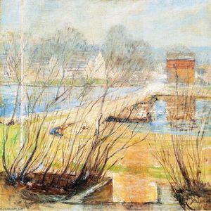 John Henry Twachtman - View from the Holley House, Cos Cob, Connecticut