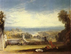 William Turner - View from the Terrace of a Villa at Niton, Isle of Wight, from sketches by a lady