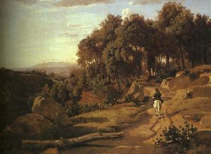 Jean Baptiste Camille Corot - A View near Colterra
