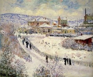 Claude Monet - View of Argenteuil in the Snow