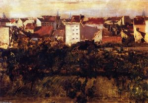 Adolph Menzel - View of Back Yards