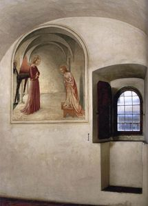 Fra Angelico - View of a cell (Convento di San Marco, Florence)