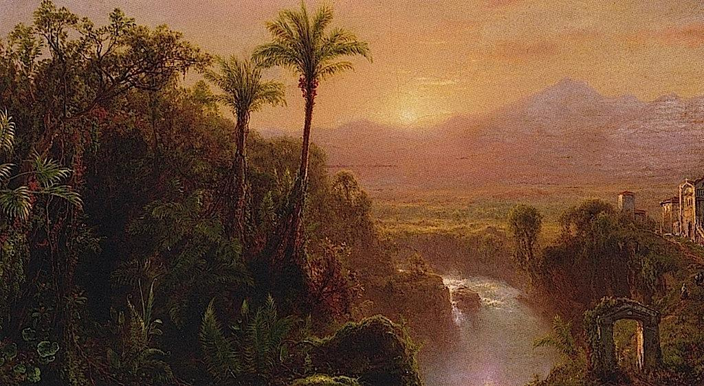 A View of a Colonial City, Ecuador, Oil On Canvas by Louis Remy Mignot (1831-1870, United States)