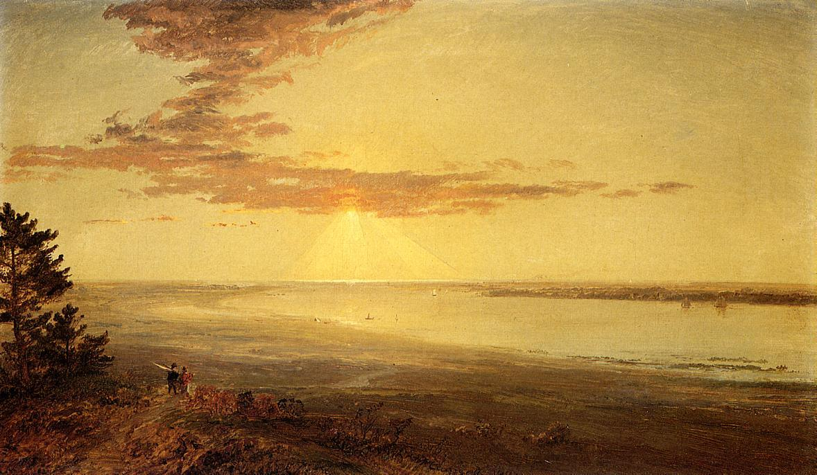 View of the Hudson, 1883 by Jasper Francis Cropsey (1823-1900, United States) | WahooArt.com