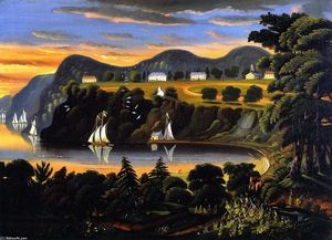 Thomas Chambers - View of the Hudson River at West Point