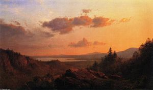 Frederic Edwin Church - View of the Hudson River from Olana