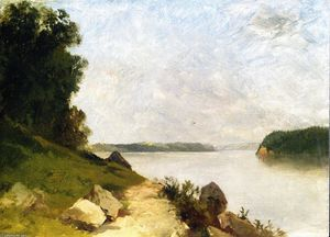 John Frederick Kensett - A View of Lake George