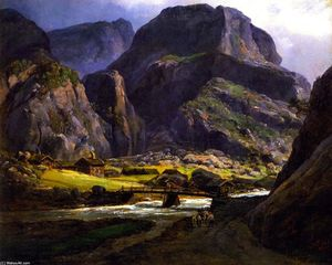 Johan Christian Clausen Dahl - View of Naerodalen