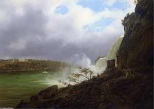 Joachim Ferdinand Richardt - A View of Niagara Falls