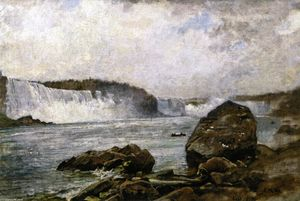 Charles Henry Miller - A View of Niagara Falls